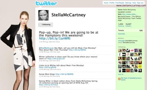 Stella McCartney Twitter Page