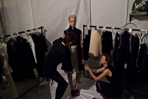 Thomas Tait Behind the Scenes Fitting | Photo: Justin Boberly